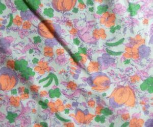 Vtg-Cotton-Fabric-Scrap-Reclaimed-Skirt-Neon-Novelty-Print-Animals-24-034-x-48-034