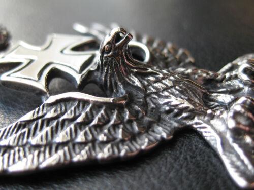 Adler mit EK Edelstahl Ketten Anhänger Eagle Eisernes Kreuz 203