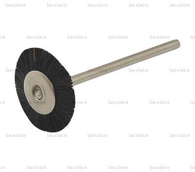 "6 x Mounted Wheel Black Stiff Bristle Brush Shank Size 3//32"" Rotary Burs Bits"