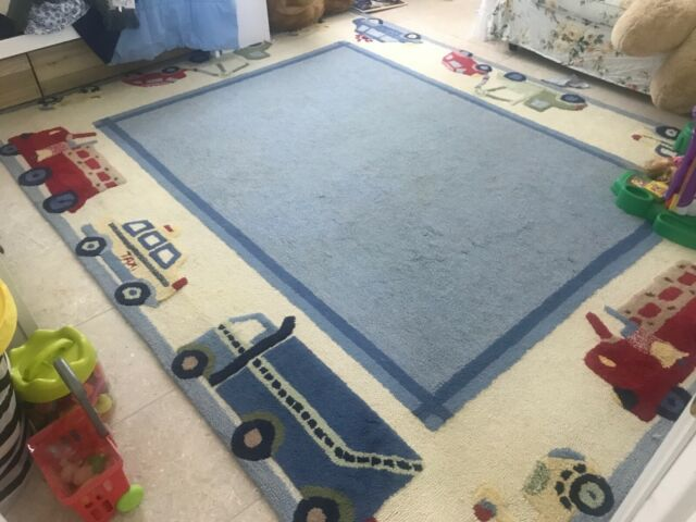 Pottery Barn Kids Trucks And Cars 8 X10 Wool Rug