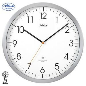 ATLANTA-4382-4-Horloge-murale-radio-pilotee-de-cuisine-Analogue-argent