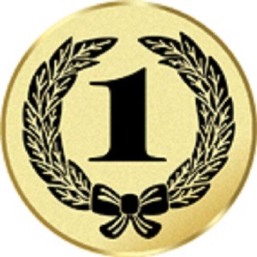 24x 1st Place Imprimé trophée médaille insère plate ou bombée 25 mm