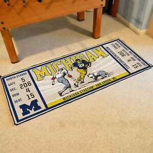 Michigan-Wolverines-30-034-X-72-034-Ticket-Runner-Area-Rug-Floor-Mat