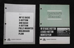 1966-Massey-Ferguson-034-Mf-82-Basic-3-4-Unten-Montiert-Pflug-034-Betreiber-Manuell