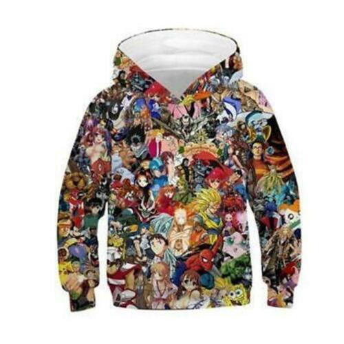 Christmas Kids Boys//Girls 3D Print Hoodie Sweatshirt Pullover Jumper Jacket Coat