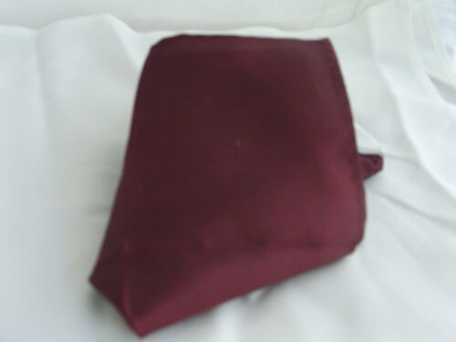 Burgundy Wine Mens Ruche Tie Cravat and Hanky Set/>The More U Buy/>The More U Save