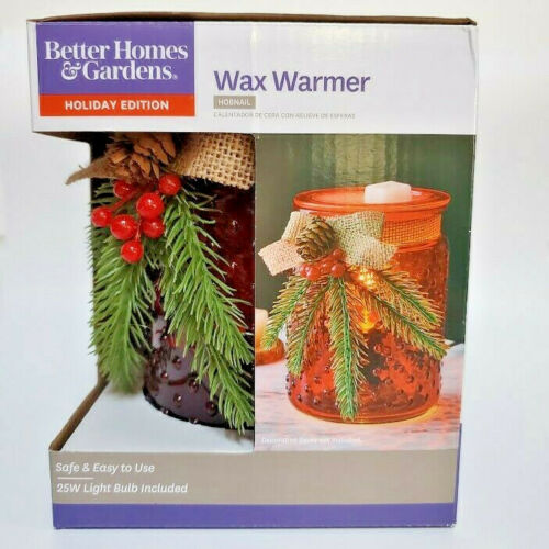 Holiday Hobnail Red With Green Pine Better Homes /& Gardens Full Size Wax Warmer