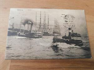Carte-Postale-Hamburg-Port-Pris-1921