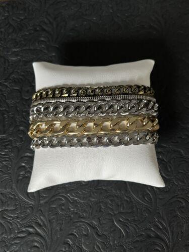Jenny Bird  multi metal multi strand bracelet