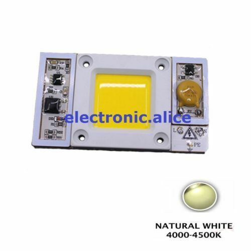 1X 220VAC High Power 50W led chip built-in driver Natural White 4500K LED