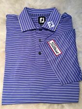 PGA Tour Staff Issue Titleist Patch Logo FootJoy Lavender Golf Polo Shirt XL