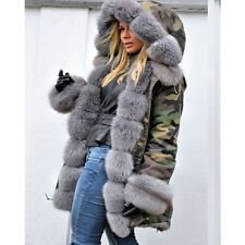 ba51da54400b item 4 Women Ladies Autumn Winter Long Warm Thick Parka Faux Fur Jacket  Hooded Coat New -Women Ladies Autumn Winter Long Warm Thick Parka Faux Fur  Jacket ...