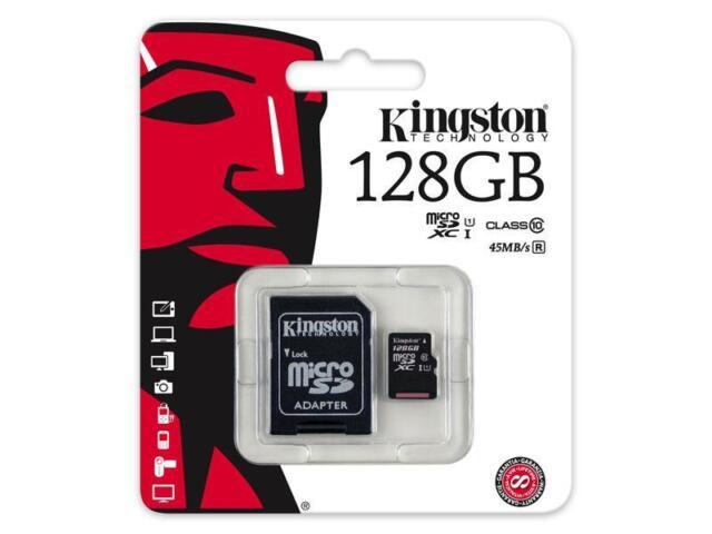 128GB MicroSD Speicherkarte KINGSTON MicroSD Karte Class 10 SDHC UHS-I C10
