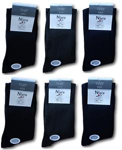 NIGRA-6-Paia-Calzini-lunghi-LORD-Calza-lunga-Uomo-Filo-scozia-100-Cotone-Mako