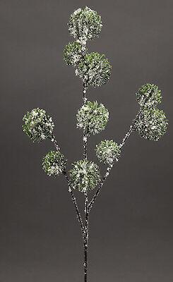 Alliumzweig 60cm mit Schnee und Eis GA - Kunstzweig künstliches Allium