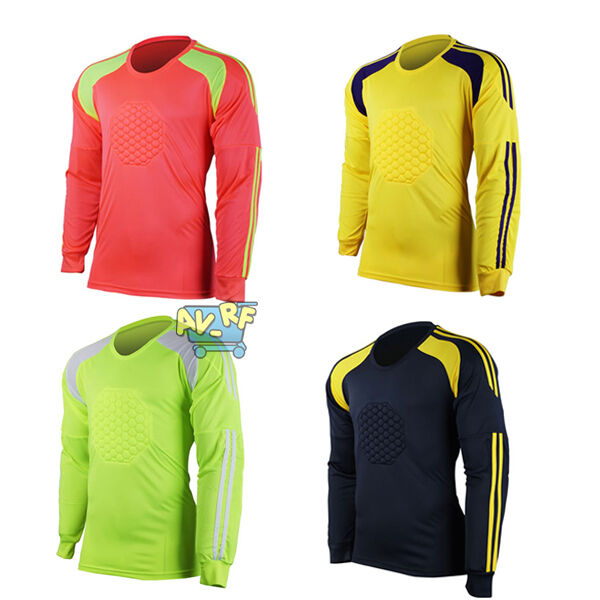 Men Soccer Keeper Football Goalkeeper Defend Ventilate Jersey Top Blouse Hot SA