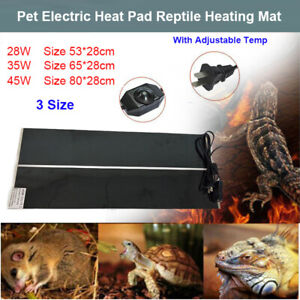 Adjustable-Temp-Pet-Heat-Pad-28-45W-Reptile-Heating-Mat-Warmer-Blanket-3-Size