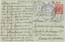 TIMBRO OSPEDALE PRO AMPUTATI SU CARTOLINA 1916 POSTA MILITARE