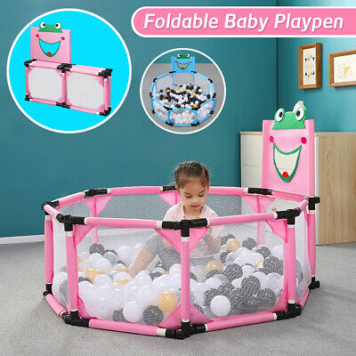 Baby Safety Playpen Toddler Foldable Play Yard Ocean Ball Pool Kids Play Tent
