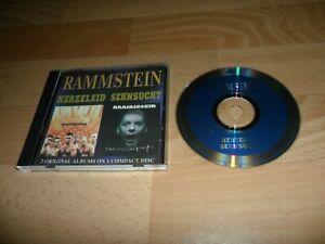 RAMMSTEIN - HERZELEID / SEHNSUCHT (RARE RUSSAIN ? 17 TRACK CD ALBUM)
