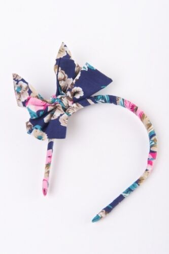 PATCHOULI FAIR Fair Trade Pretty Floral Alice Band Headband Cotton with Bow