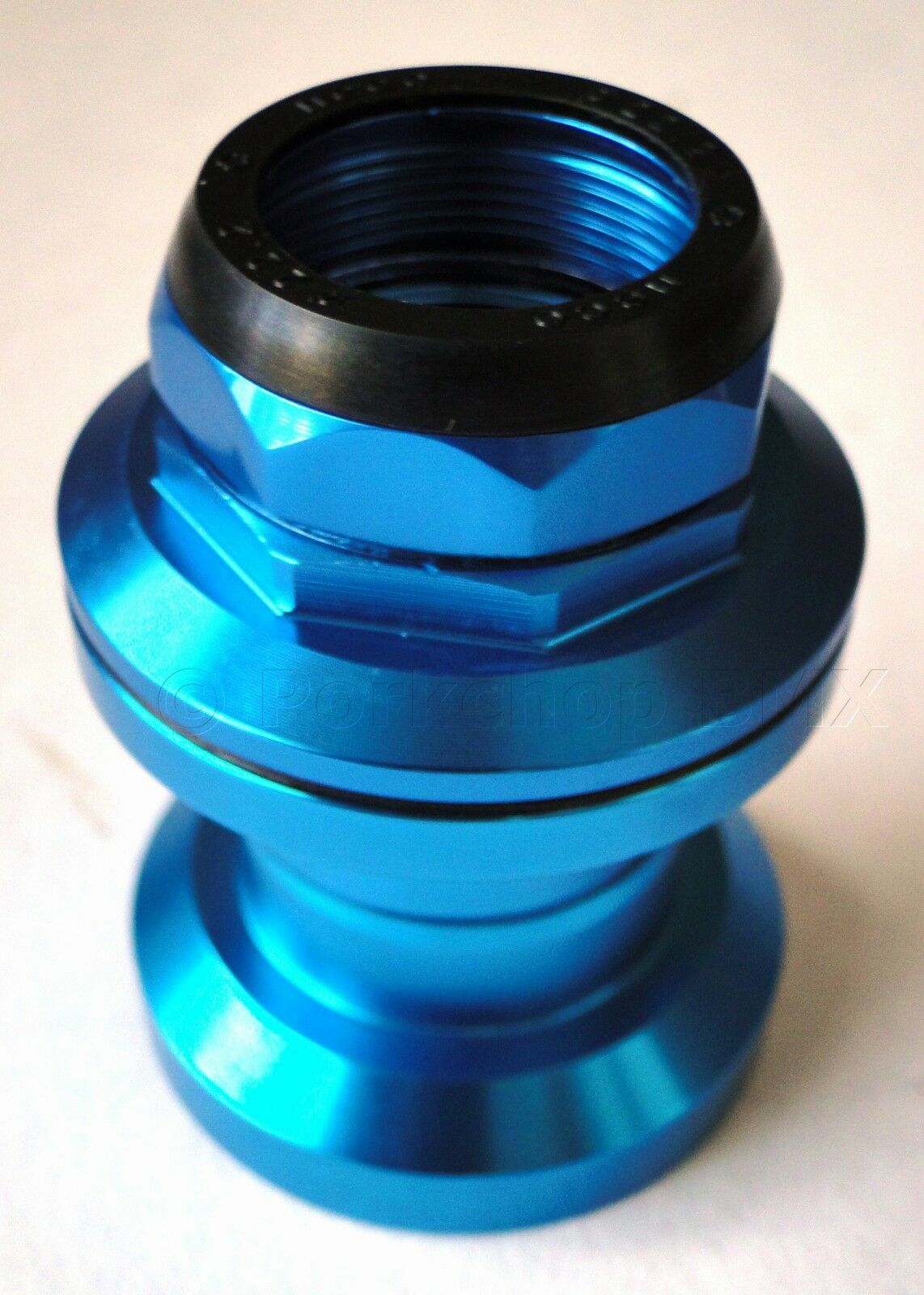 Aluminum bicycle road bike headset 1  threaded 30.0mm cups 26.4mm crown blueeE