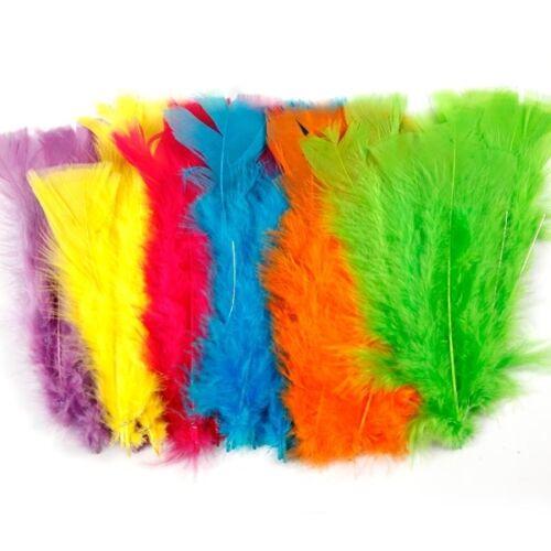 18er Pack Flausch-Federn 11cm bis 17cm in tollen Farben