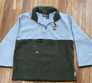 Vintage Mickey Unlimited Fleece Jacket Size XL Embroidered 90's Disney
