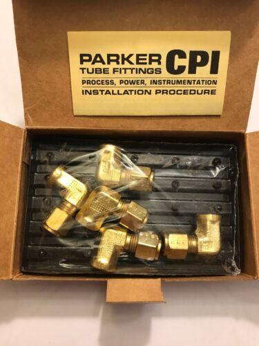 Parker CPI Female Elbow 5-2 DBZ-B Brass Qty 5