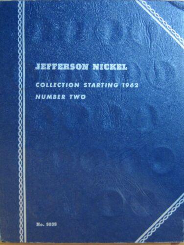 Album Folder NO COINS late ed Vintage Used Jefferson Nickel 1962-65 #2