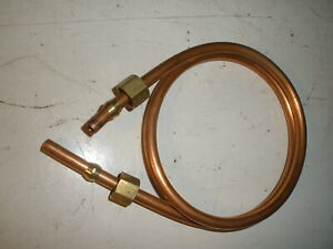"""2FT 1/4"""" Copper Tube Gas Fuel Line & Fittings Small Engine Briggs Hit Miss"""