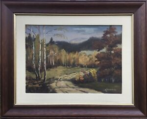 Autumn-Landscape-Probably-Polish-Painter-Eastern-Europe-Oil-Painting
