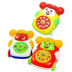 Bebe-Enfant-Educatif-Apprentissage-Simule-Telephone-Mobile-Jouets-Jouant-Jeux-NF