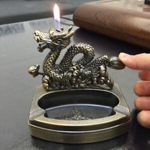 Novelty Dragon Refillable Butane table lighter Cigarette ...