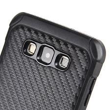 For Samsung Galaxy A7 - HYBRID HARD RUBBER ARMOR CASE COVER BLACK CARBON FIBER