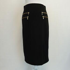 Grace-Elements-Womens-Skirt-Zip-Pocket-Stretch-Back-Zip-Pencil-Skirt-Black-60