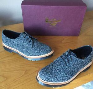 Chaussures Eu 5 Lester soie Martens 40 en en mélangées Fabriqué Royaume 6 Uni Angleterre Dr noires PnUvBB