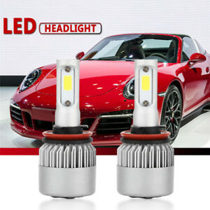 2pcs Headlight Led Car Kit H11 H9 H8 200w 20000lm Cob High Low Beam
