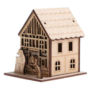 3D Wooden Puzzle Educational Toy Belfry House Building Model Assembly Jigsaw
