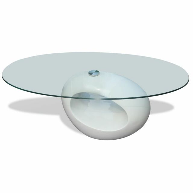 Vidaxl Couchtisch Glas 240318 Weiss Gunstig Kaufen Ebay
