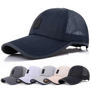 7e8442bd3b857 Image is loading Men-Women-Mesh-Curved-Visor-Baseball-Cap-Outdoor-