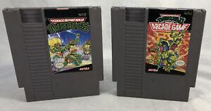 Teenage-Mutant-Ninja-Turtles-1-amp-2-Nintendo-1989-1990-NES-Carts-Only-Tested