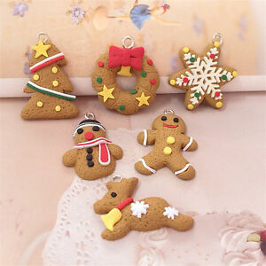 6pcs-Christmas-Party-Gingham-Gingerbread-Man-Wife-Felt-Hanging-Tree-Decoratio-K0
