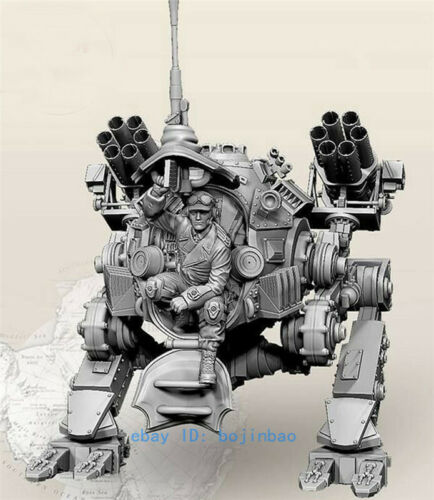 1//35 WWII SCI-FI Mecha Soldier Resin Statue Unpainted Model Kits Unassembled New