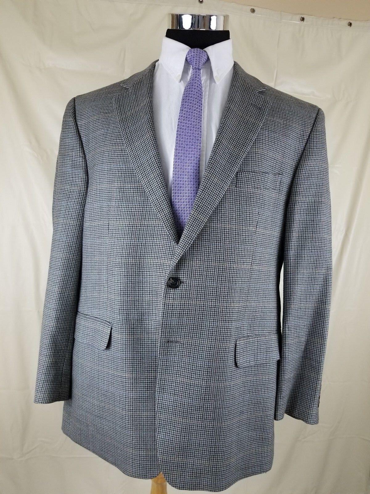 Chaps Ralph Lauren  Herren Sport Coat Houndstooth 2 Button Silk-Wool grau 46 R