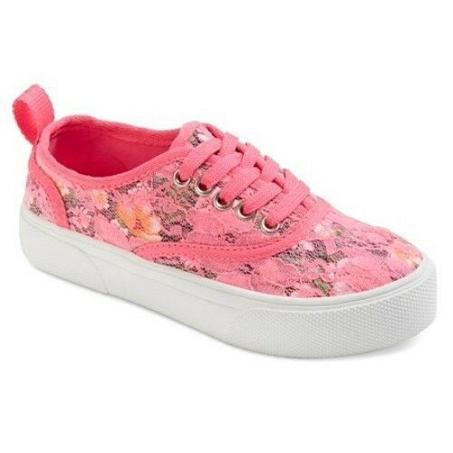 YOUTH NWT! PINK LACE CROCHET SNEAKERS STEVIES #PLAYGROUND STYLE GIRLS SHOES