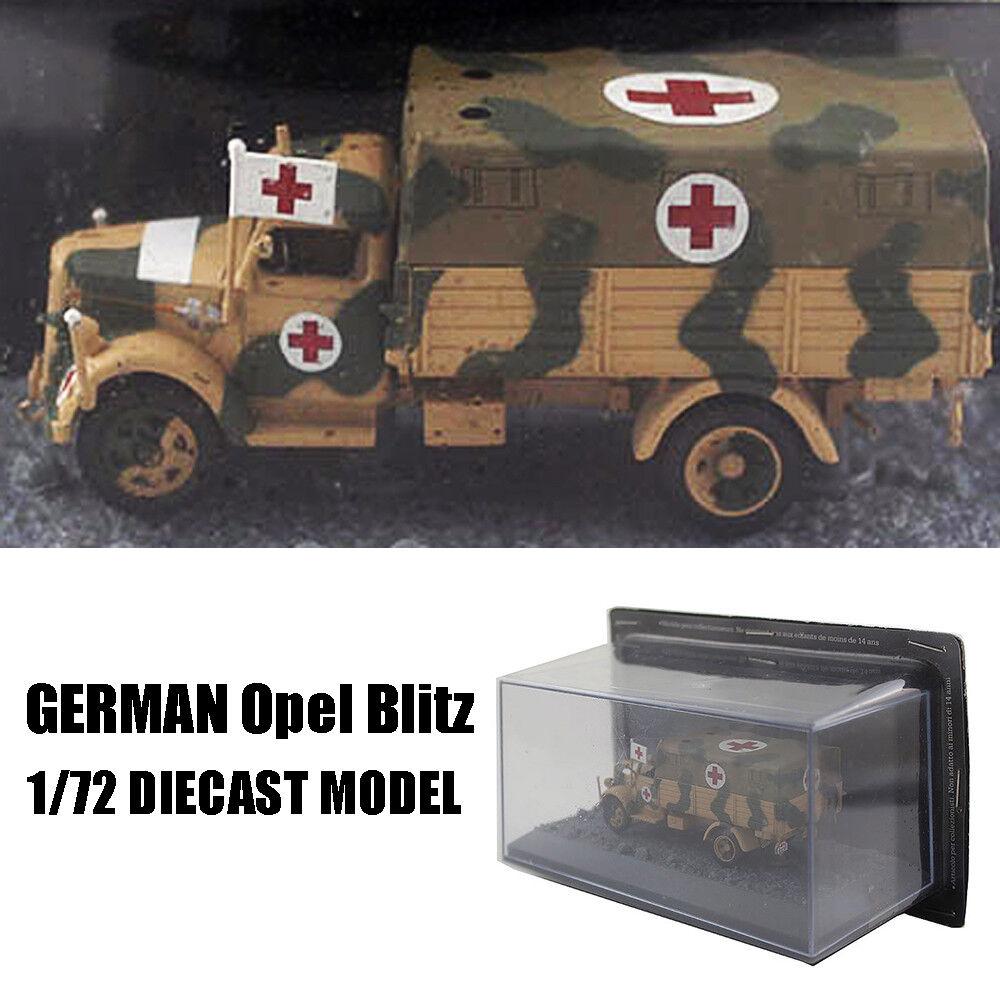WWII GERMAN Opel Blitz 1 72 DIECAST MODEL FINISHED Ambulance IXO