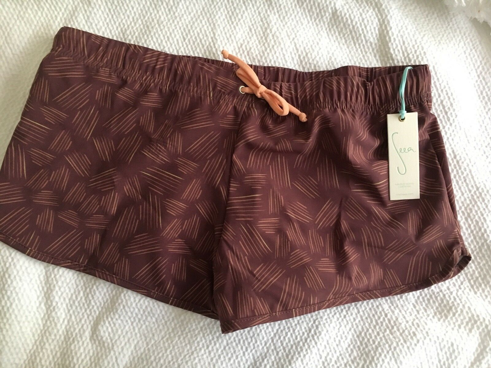 Women's Seea Board Shorts, Shorts, Shorts, Madras Shorts, Prarie pattern, swimwear, size medium 0d7bcb