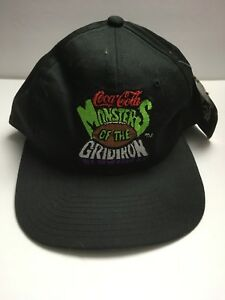 Rare-Vintage-STARTER-NWT-Coca-Cola-Monsters-Of-The-Gridiron-Snapback-Hat-Cap-90s