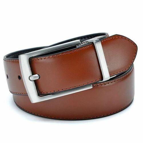 Men High Quality Genuine Leather Luxury Strap Male Belts Dark